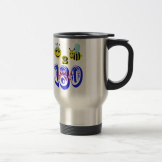 happy 2 bee hitting 180 travel mug