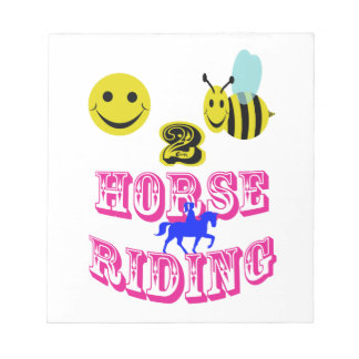 happy 2 bee horse riding memo notepads