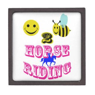 happy 2 bee horse riding premium trinket box