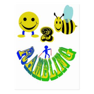 happy 2 bee rambling postcard