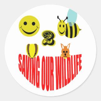 Happy 2 bee saving our wildlife classic round sticker