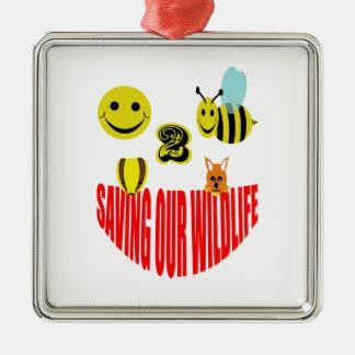 Happy 2 bee saving our wildlife metal ornament