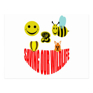 Happy 2 bee saving our wildlife postcard