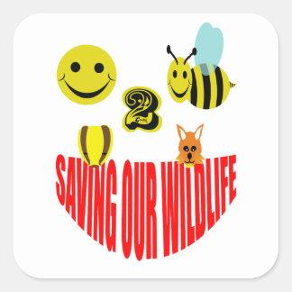 Happy 2 bee saving our wildlife square sticker