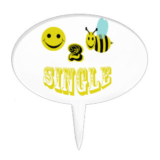 happy 2 bee single cake toppers