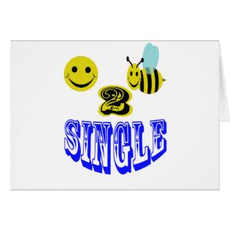 happy 2 bee single card