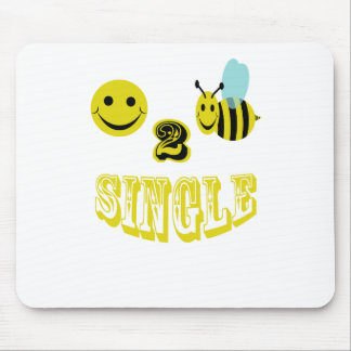 happy 2 bee single mouse pad