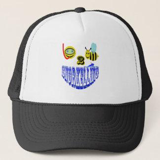happy 2 bee snorkelling trucker hat