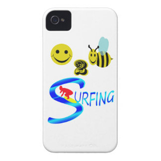 happy 2 bee surfing iPhone 4 cases