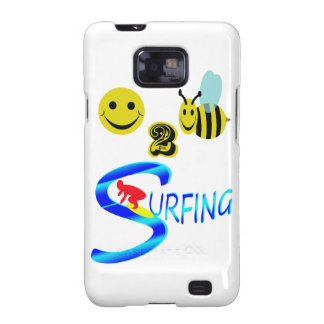happy 2 bee surfing samsung galaxy SII cases