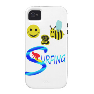 happy 2 bee surfing iPhone 4/4S cover