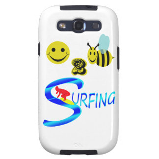 happy 2 bee surfing samsung galaxy s3 cover