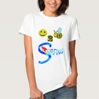 happy 2 bee surfing t shirt