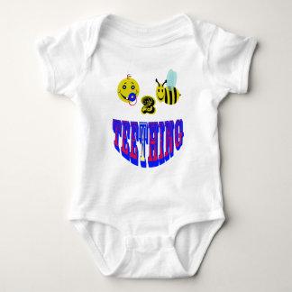 happy 2 bee teething baby bodysuit