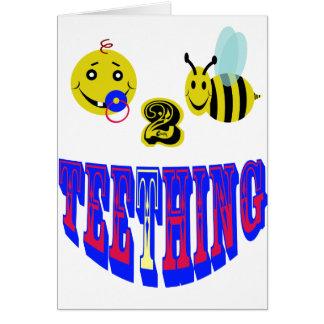 happy 2 bee teething card