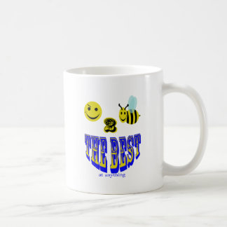 happy 2 bee the best at anything coffee mugs