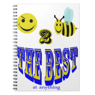 happy 2 bee the best at anything spiral notebooks