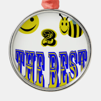 happy 2 bee the best at anything ornament