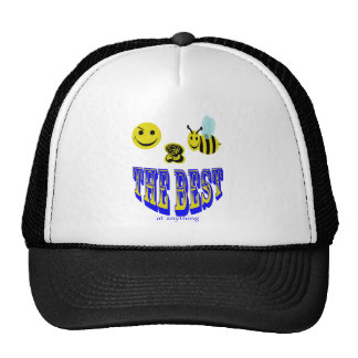 happy 2 bee the best at anything trucker hat