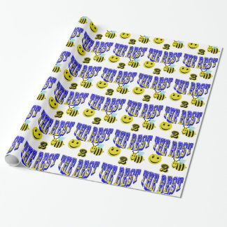 happy 2 bee the best at anything gift wrapping paper