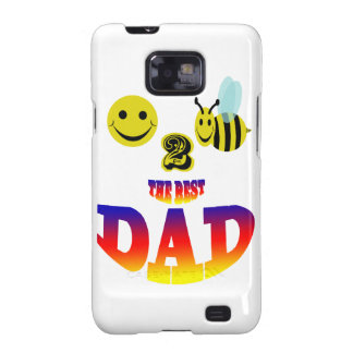 happy 2 bee the best dad galaxy s2 cover