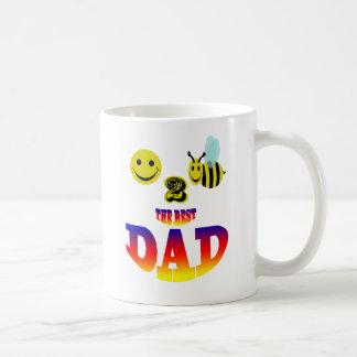happy 2 bee the best dad coffee mug