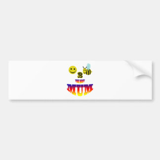 happy,2 bee the best mum bumper sticker
