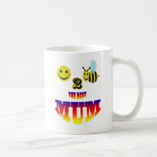 happy,2 bee the best mum coffee mug