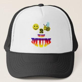 happy,2 bee the best mum trucker hat