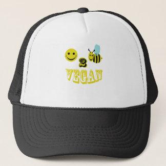 happy 2 bee vegan. trucker hat