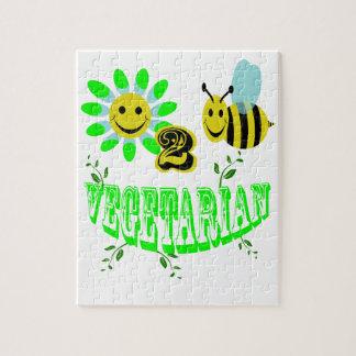 happy 2 bee vegetarian jigsaw puzzle