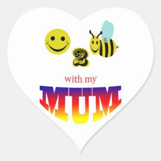 happy 2 bee with my mum heart sticker