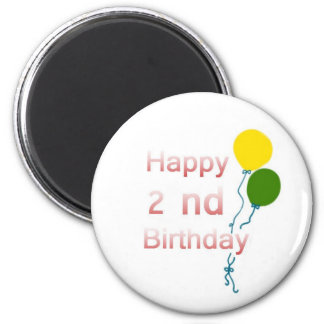 happy 2 nd birthday magnet