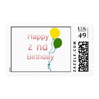 happy 2 nd birthday stamps