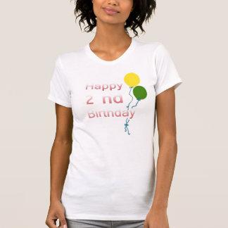 happy 2 nd birthday tee shirts