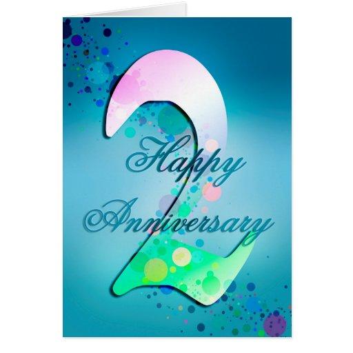 Happy nd anniversary card zazzle