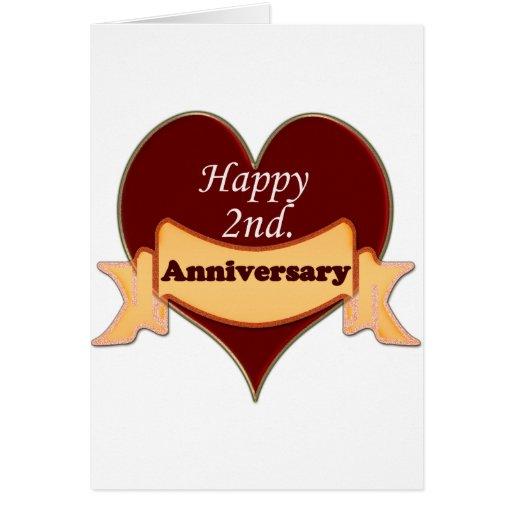 happy 2nd anniversary cards zazzle