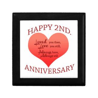 Happy 2nd. Anniversary Gift Box