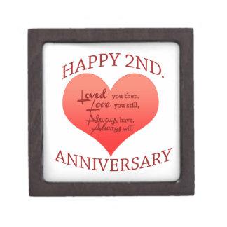 Happy 2nd. Anniversary Jewelry Box