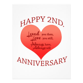 Happy 2nd. Anniversary Letterhead