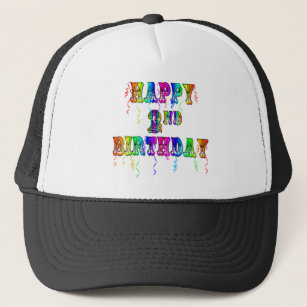 Happy 2nd Birthday Gifts Trucker Hat