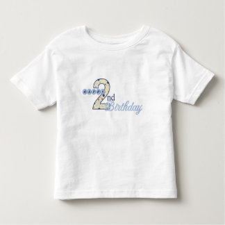 Happy 2nd Birthday Blue T-Shirt