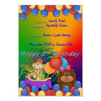 Happy 2nd Birthday Card