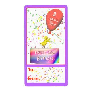 Happy 2nd Birthday Chicken Gift Tag