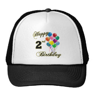 Happy 2nd Birthday Hats and Baseball Caps