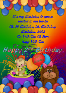 Happy 2nd Birthday Invitation