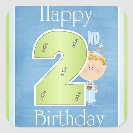Baby Gifts For Second Boy : Happy nd birthday little boy stickers zazzle