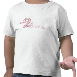 Happy 2nd Birthday Pink T-Shirt