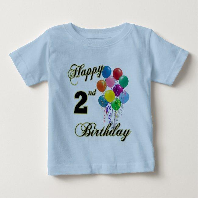 Happy 2nd Birthday Shirts and Birthday Apparel