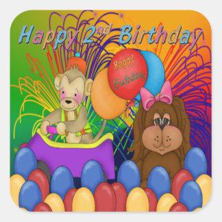 Happy 2nd Birthday Square Sticker